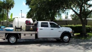 power washer on a truck